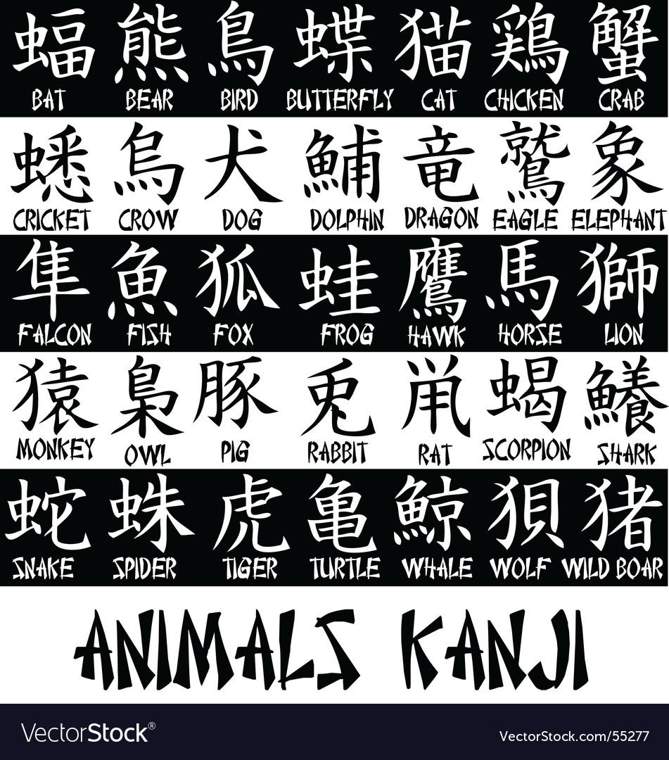 Kanji Text Royalty Free Vector Image Vectorstock