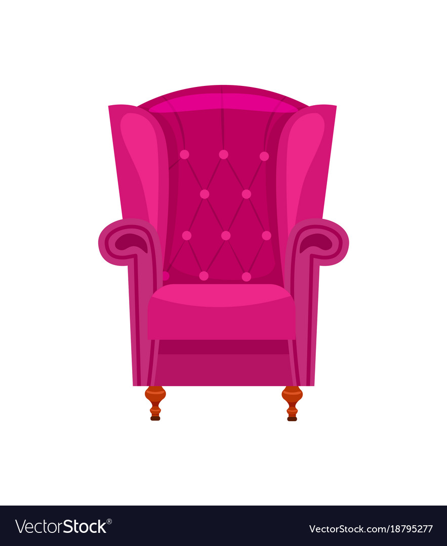 Beau Purple Armchair Isolated Icon Vector Image