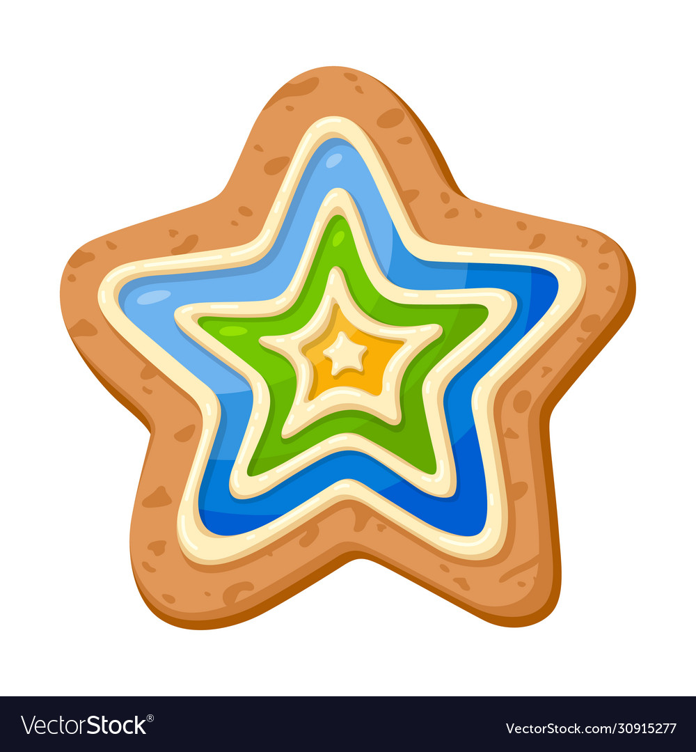 Star cookie icon holiday sweet decoration