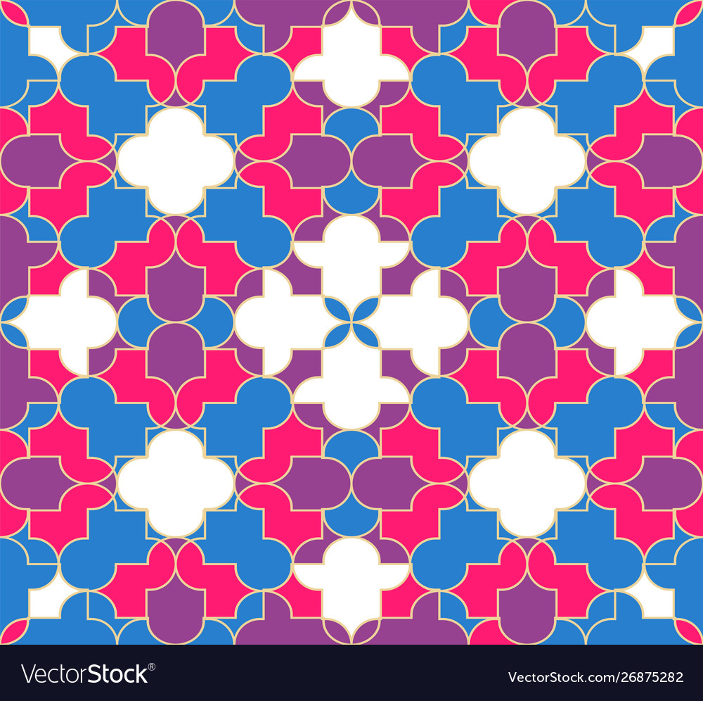 Abstract muslim seamless pattern background