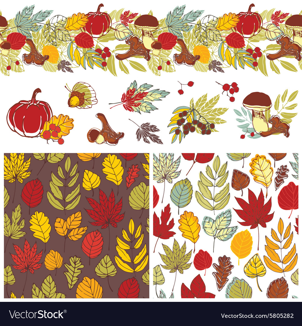 Autumn patterns and elements