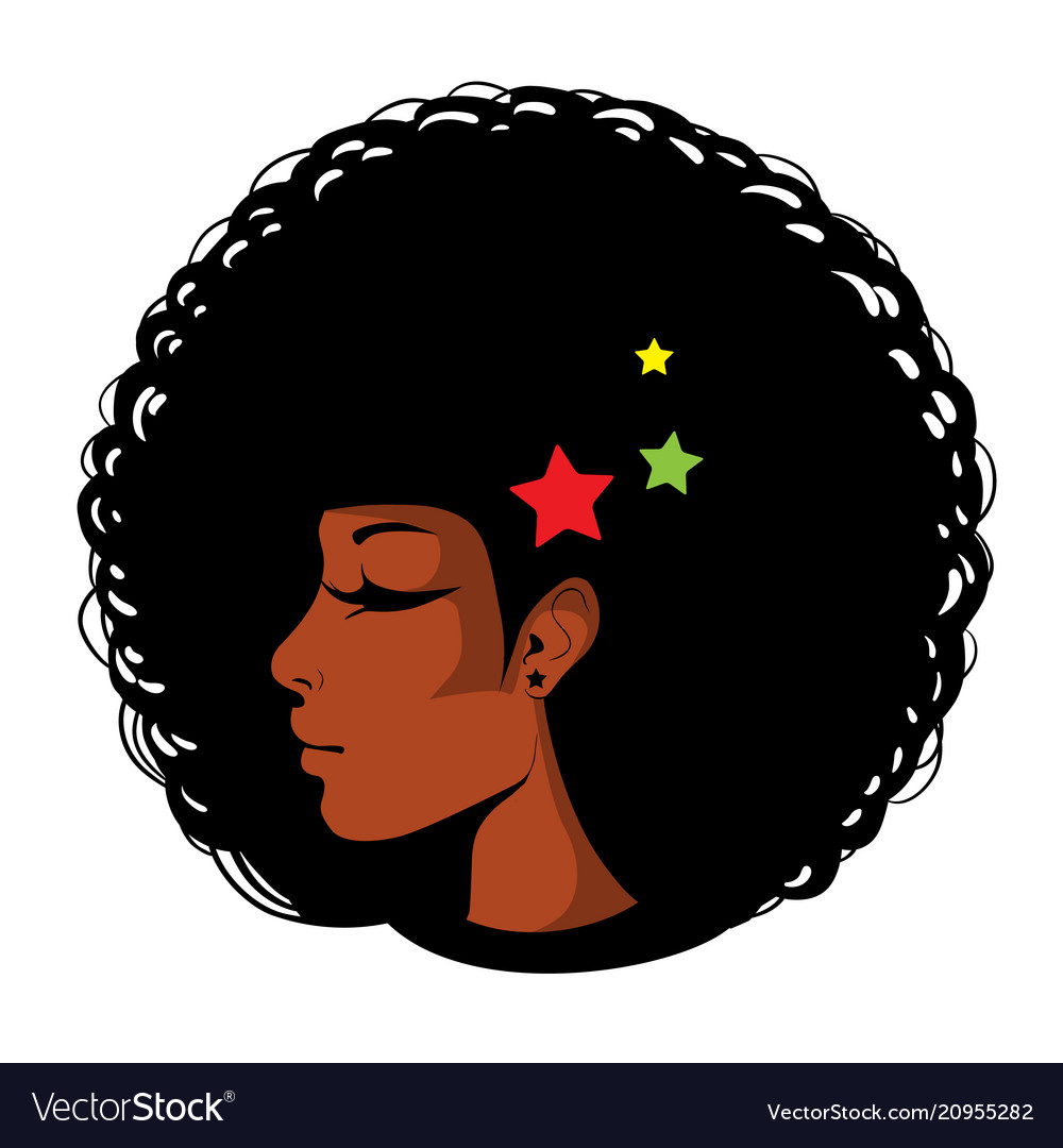 Bright in pop art afro