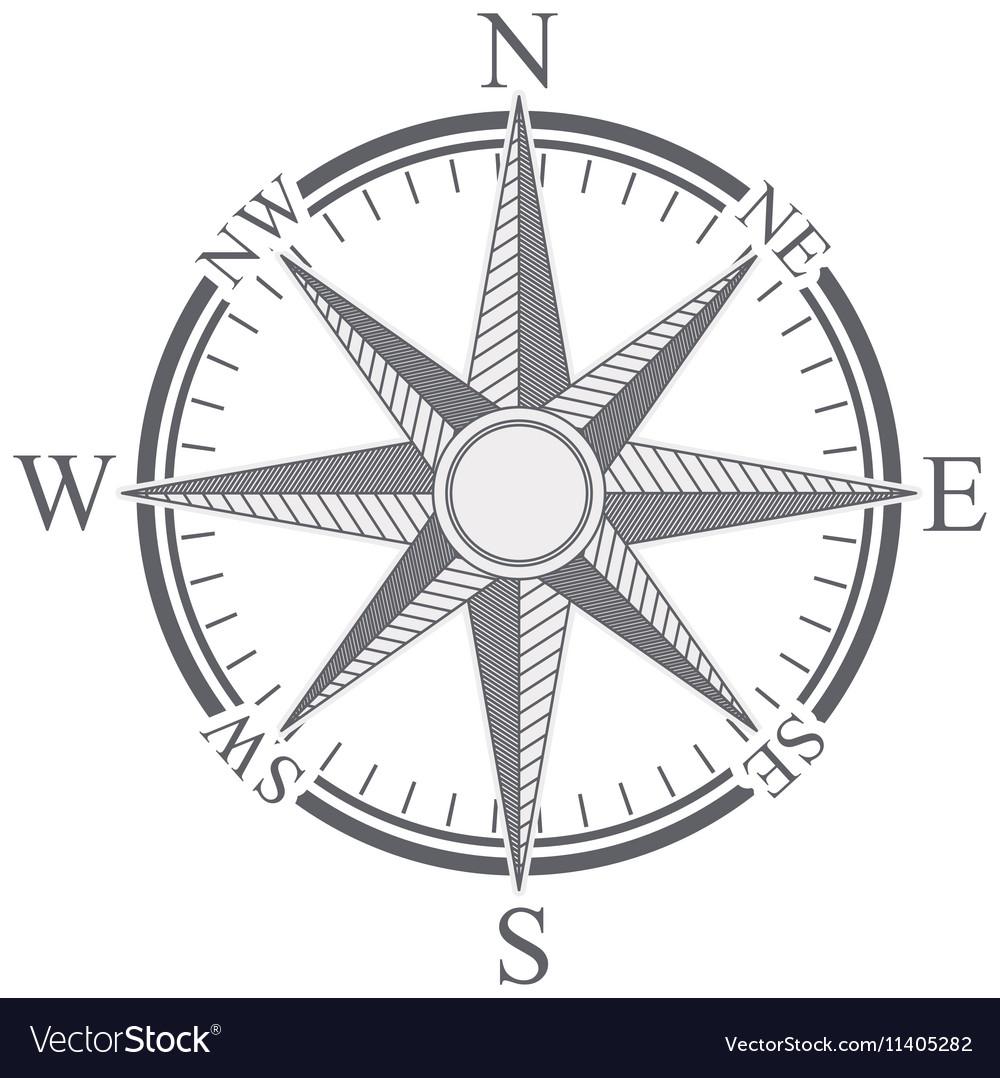 compass rose design royalty free vector image vectorstock