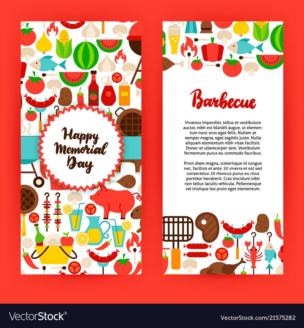 happy memorial day barbecue flyer royalty free vector image