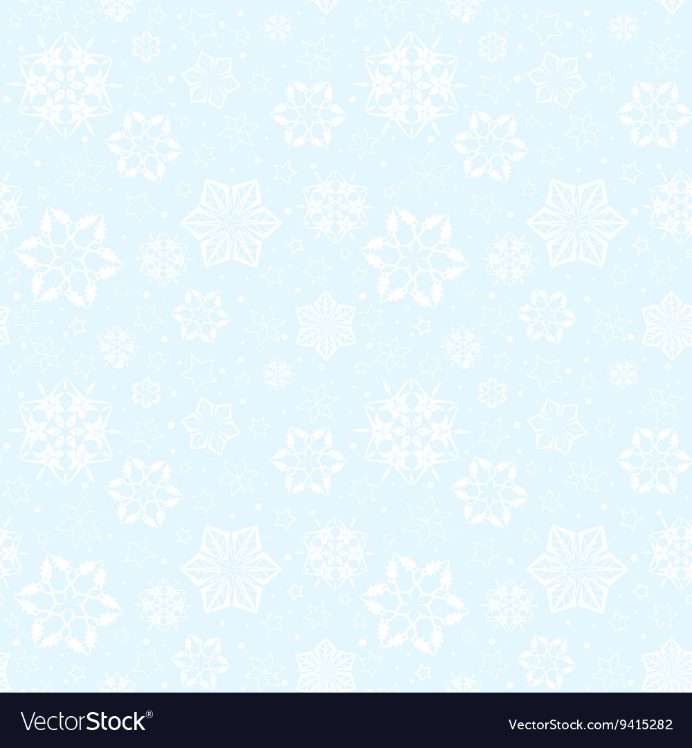 Pattern snowflakes vector