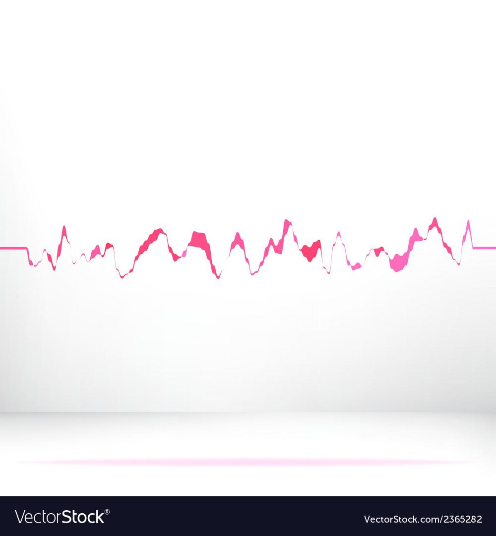 Red pink waveform background EPS8