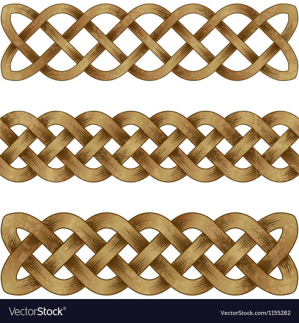 Set of bronze celtic braids