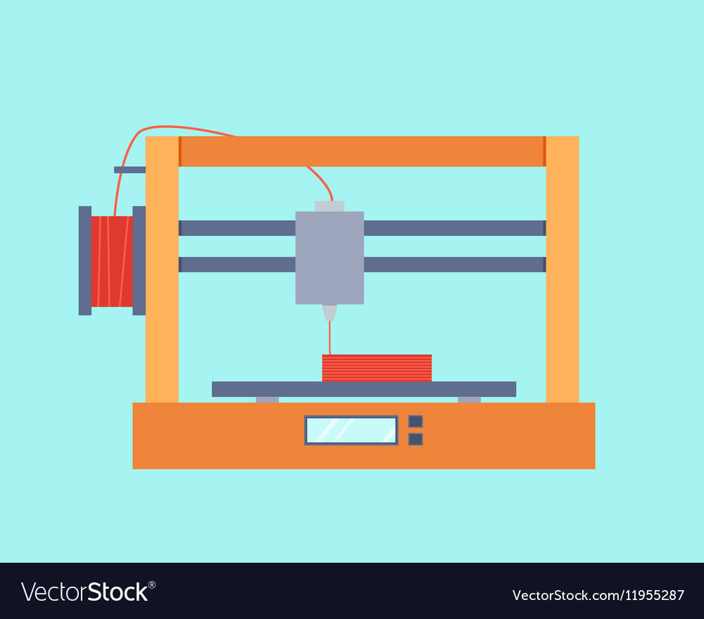 3d printer royalty free vector image vectorstock vectorstock