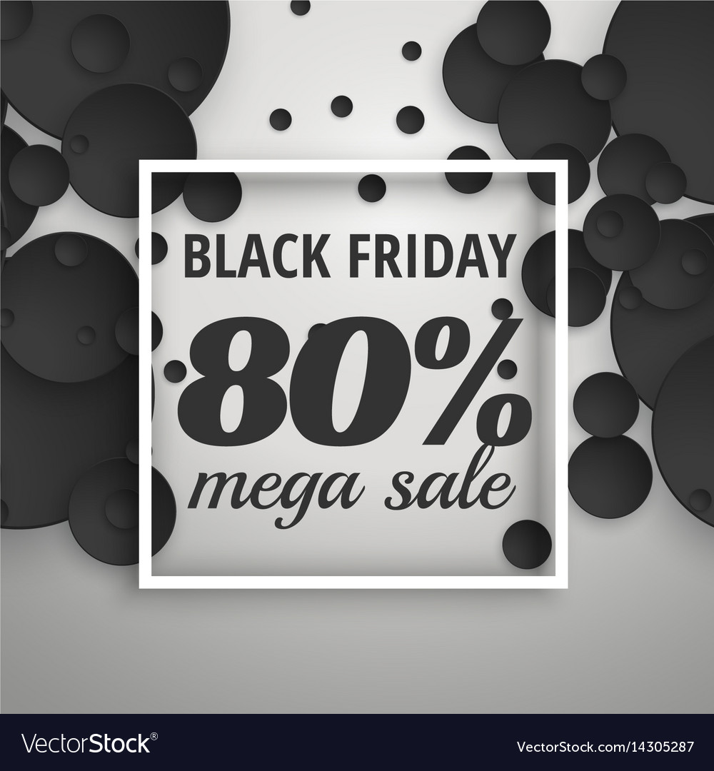 Amazing black friday sale poster banner with dark