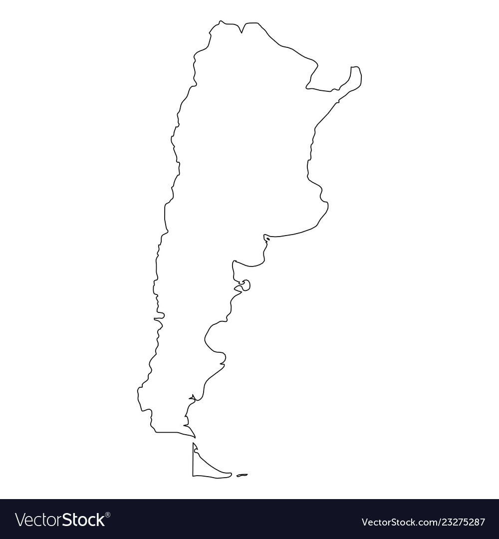 Argentina Map Silhouette
