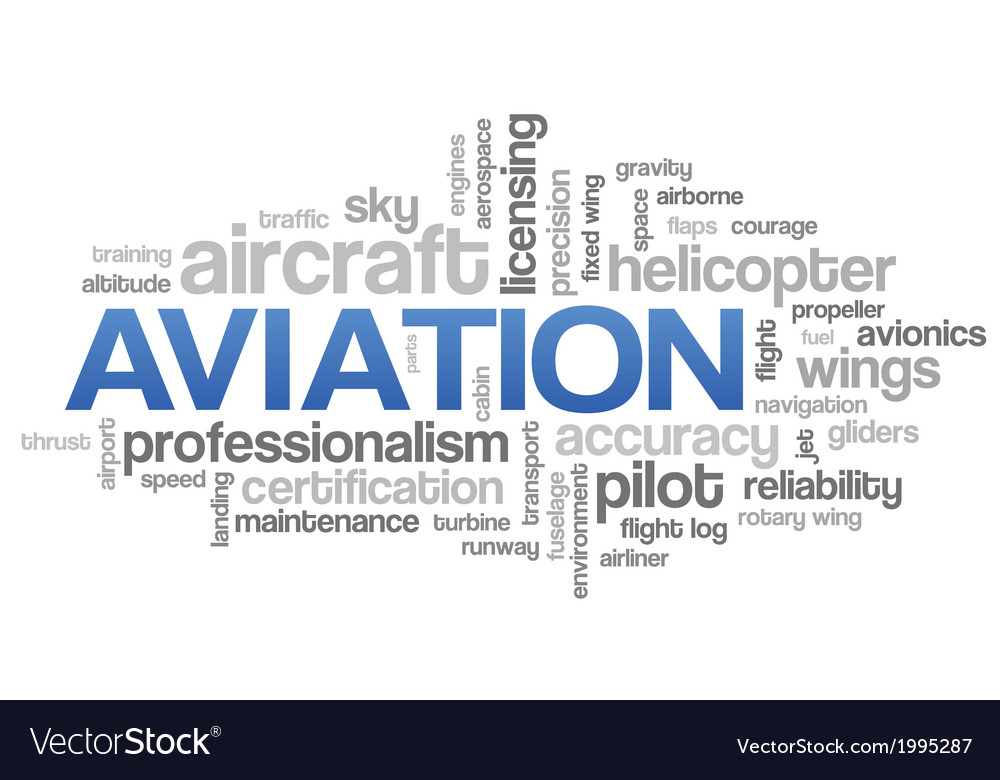 aviation word cloud blue bubble tags tree vector image