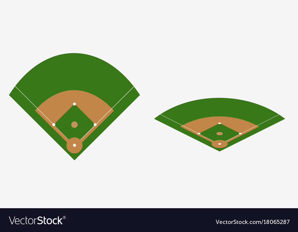 baseball field plan royalty free vector image vectorstock rh vectorstock com baseball field vector free download