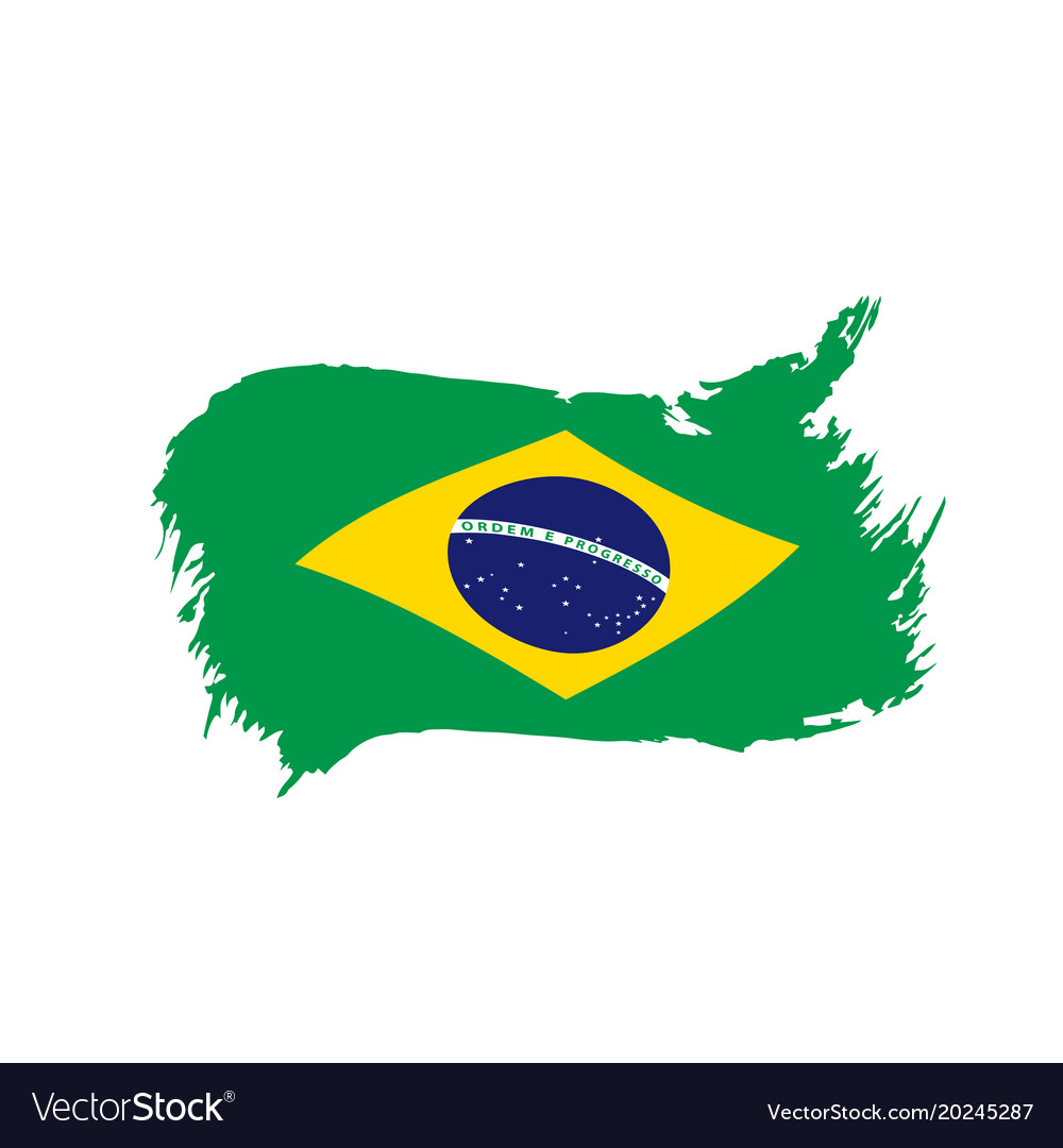 brazil flag royalty free vector image vectorstock rh vectorstock com brazil flag vector free download brazil flag vector free download