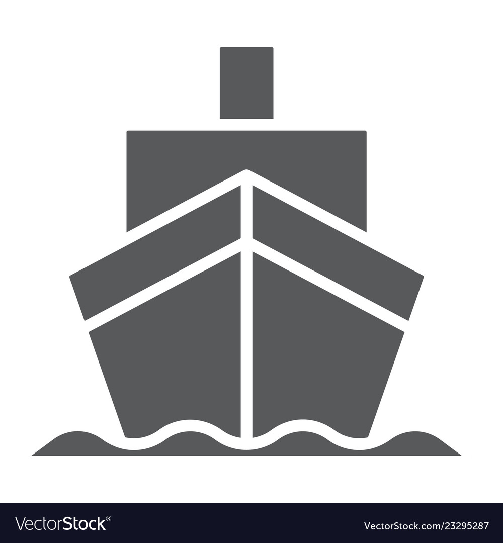 Cargo ship glyph icon transportation and delivery