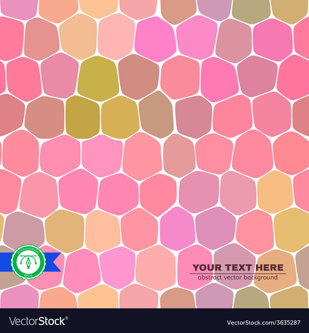 Colorful Honeycomb Seamless Background