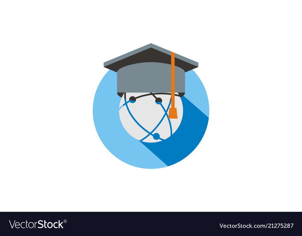 Graduation hat education logo vector image