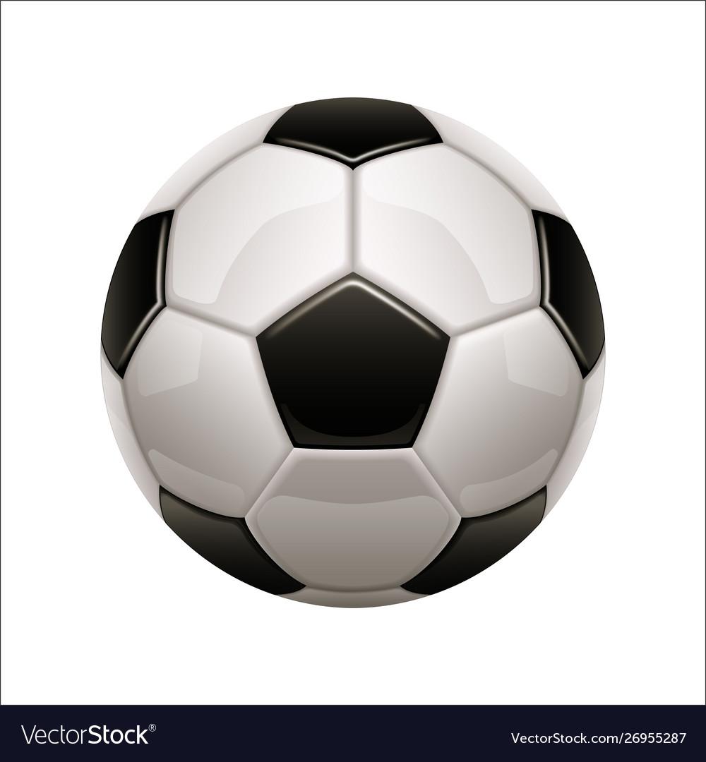 Isolated soccer ball icon european football