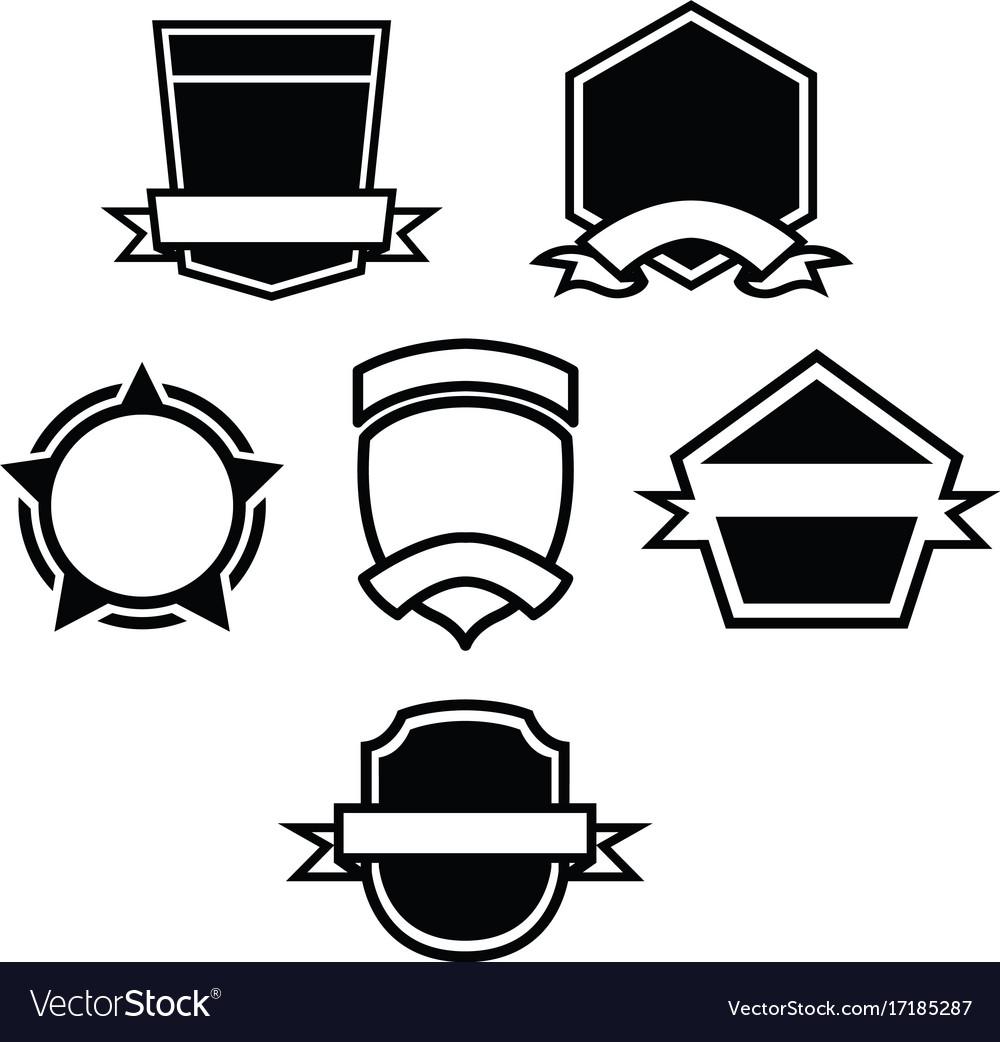 Label badge emblem vector image