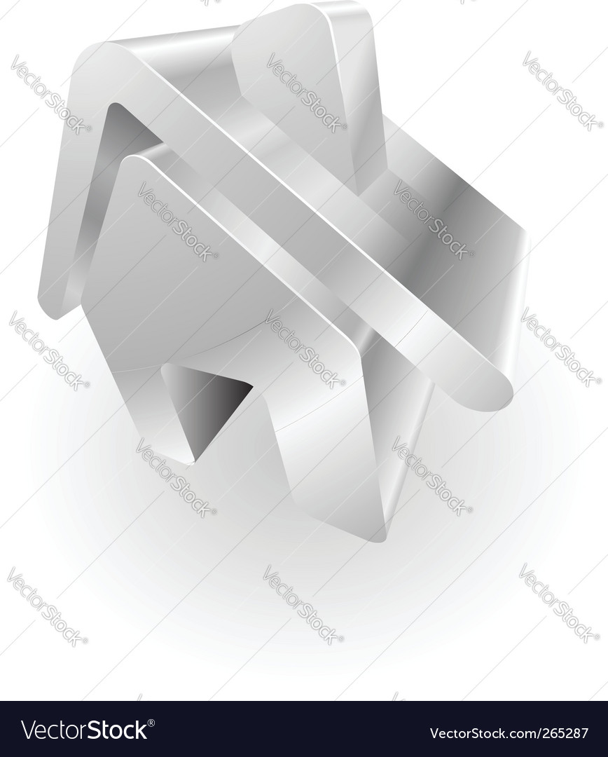 Metallic house vector image