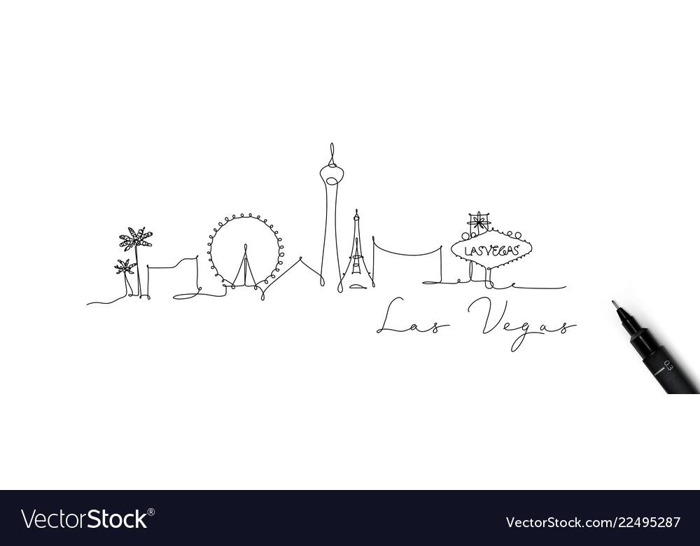 Pen line silhouette las vegas