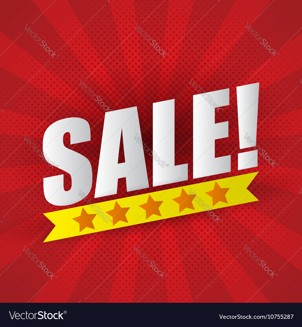 Sale poster background with five star