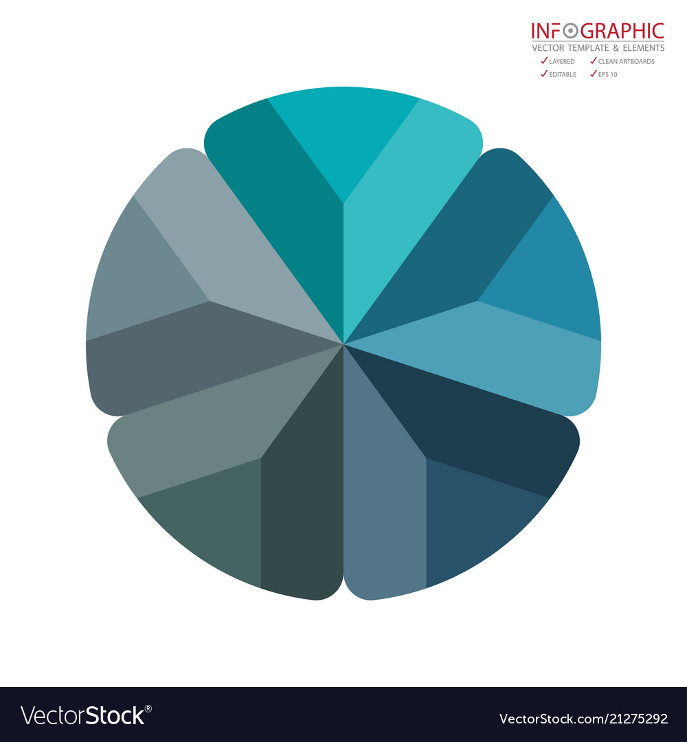 Abstract element infographics 5 option design for