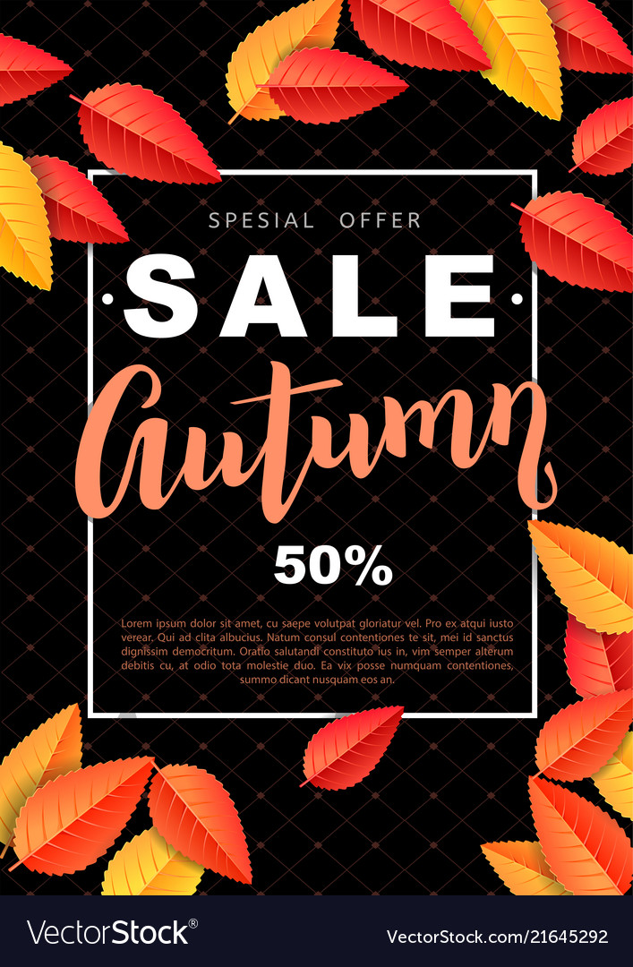 Autumn sale design poster