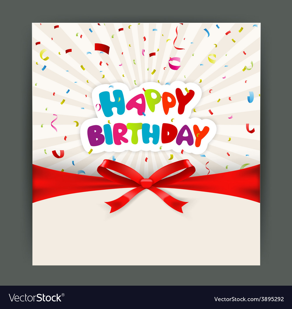 Birthday card design vector image