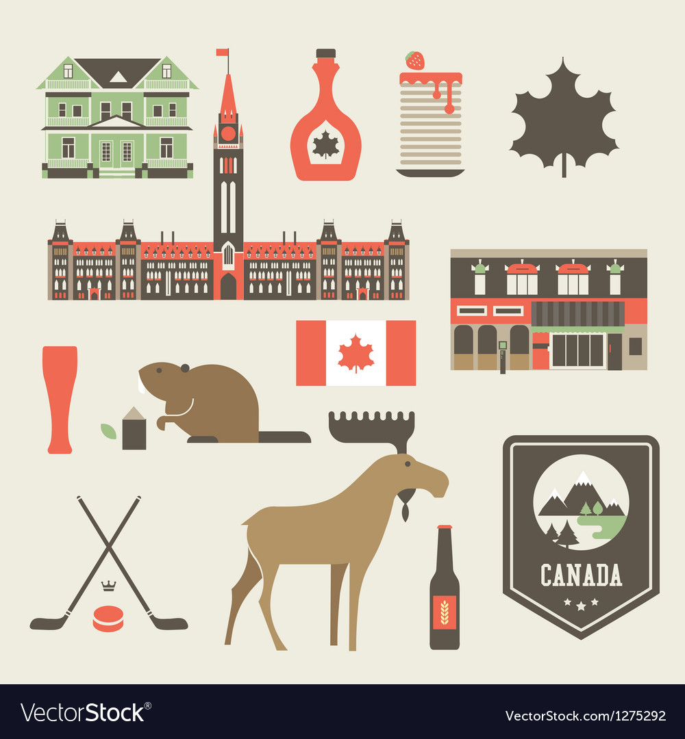 Canada icons vector image