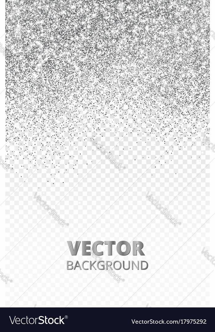 Falling glitter confetti silver dust vector image