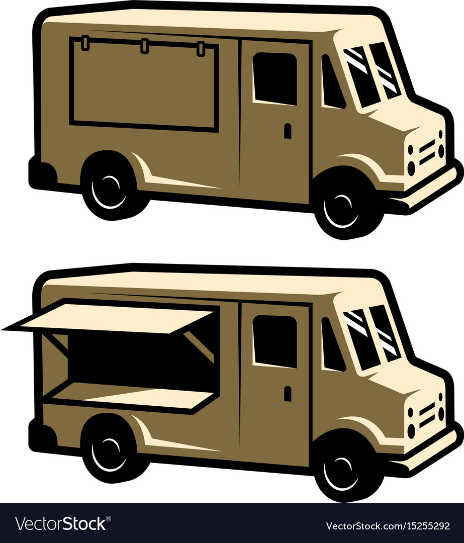 food truck template royalty free vector image vectorstock
