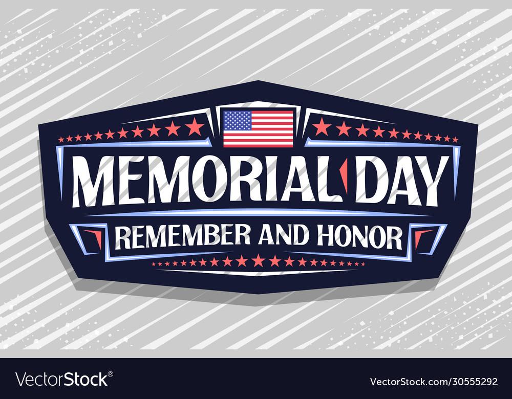 Logo for memorial day