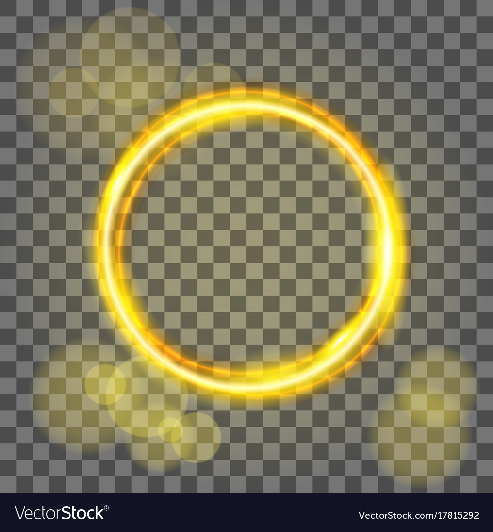 Magic gold circle flare special effect