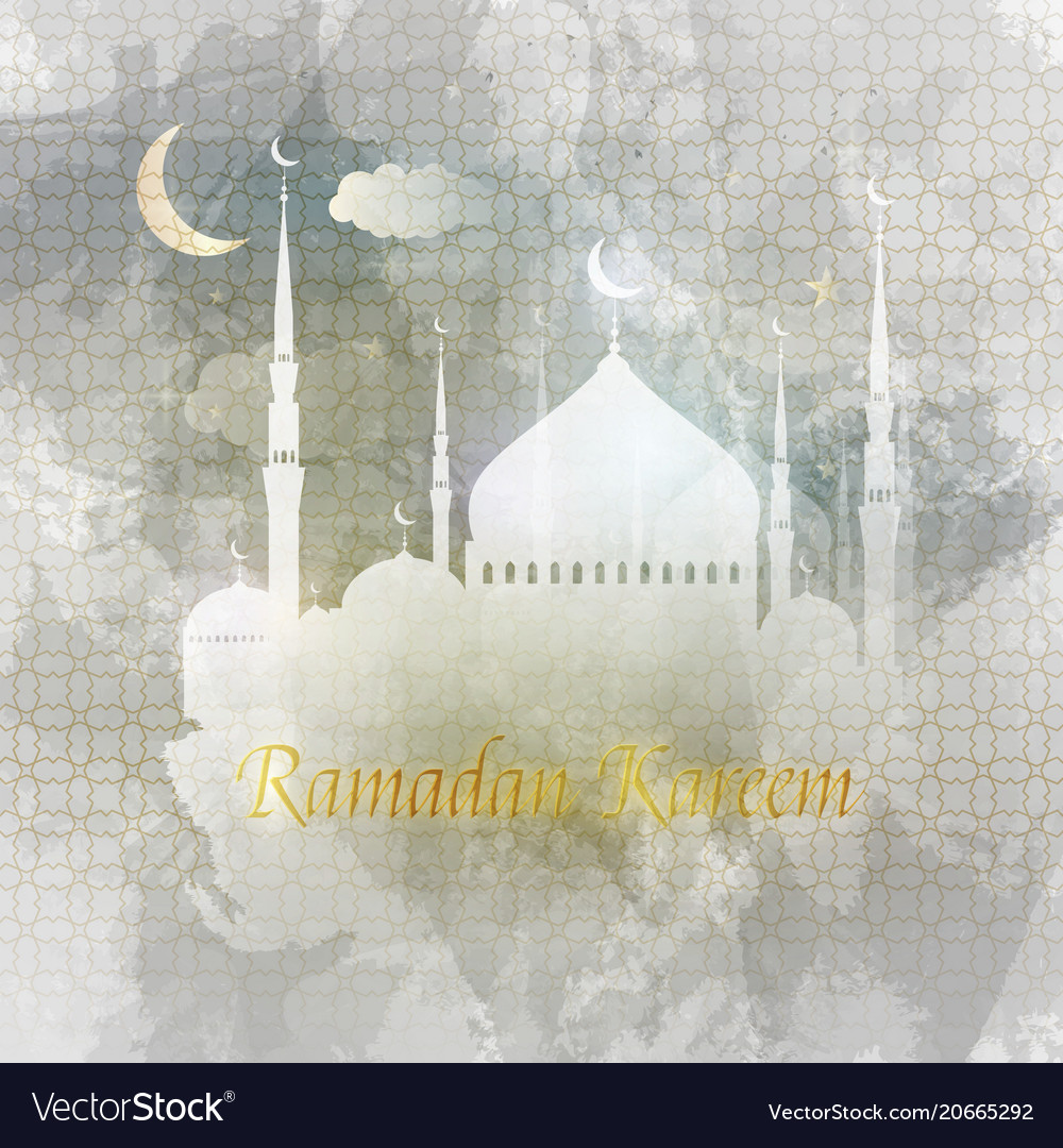 Ramadan kareem arabic greeting card islamic vector image m4hsunfo