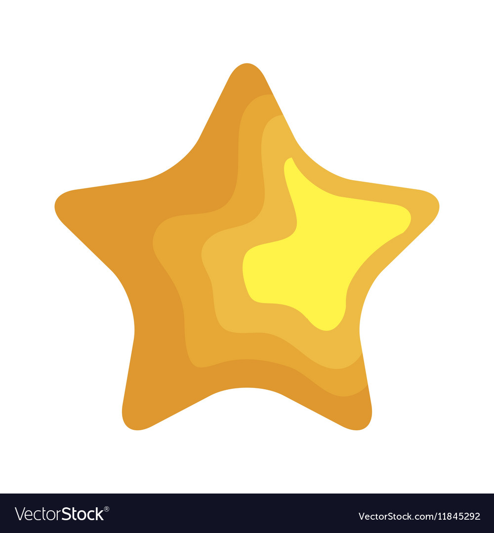 Star christmas decoration isolated icon