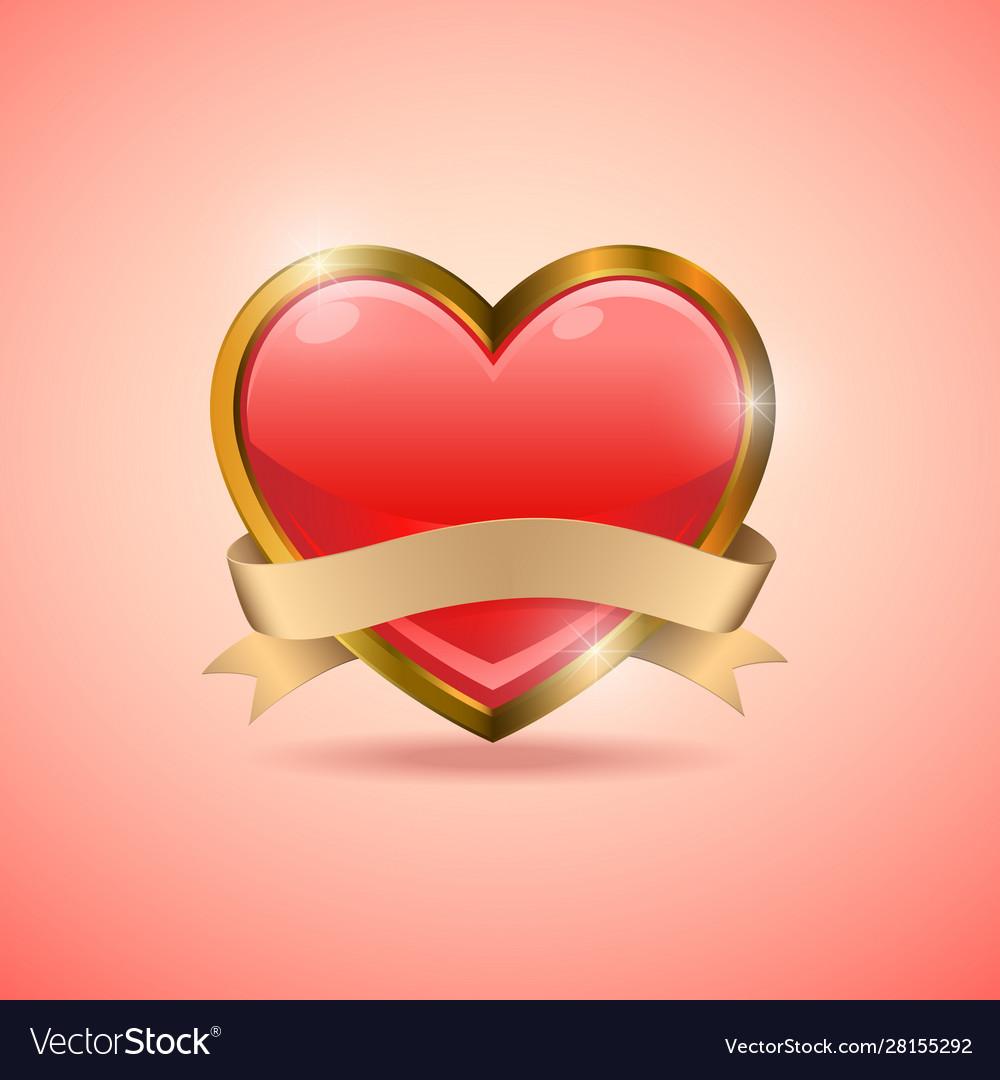 Valentine heart badge flag emblem