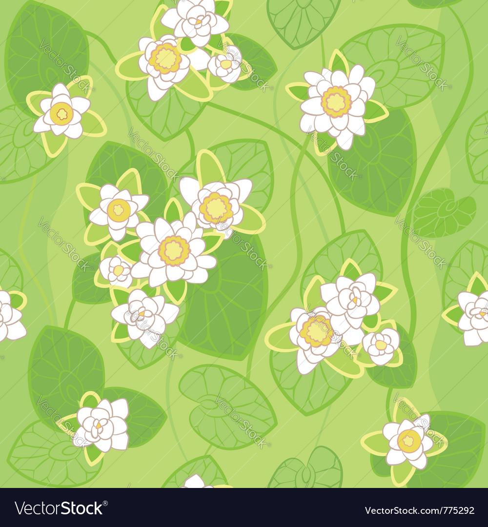 White lotus background vector image