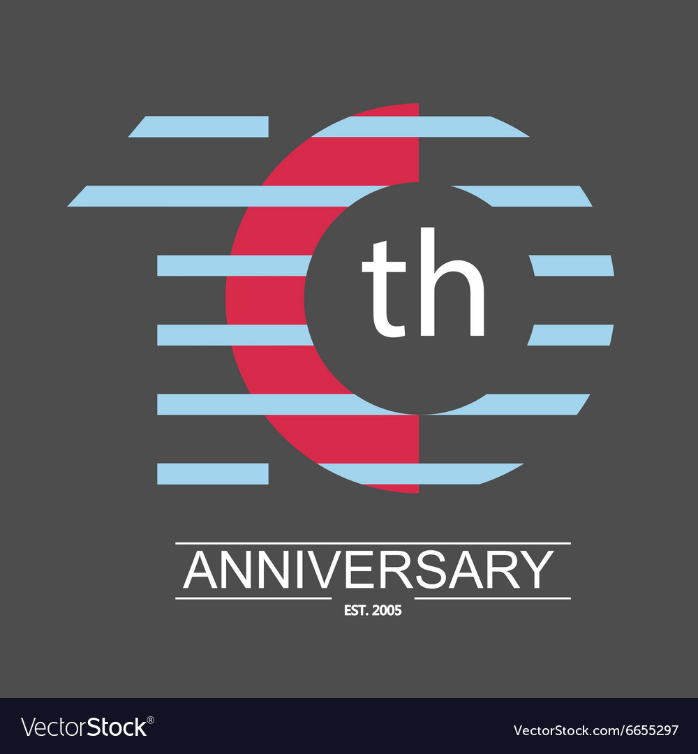 Anniversary icon with abstract elements