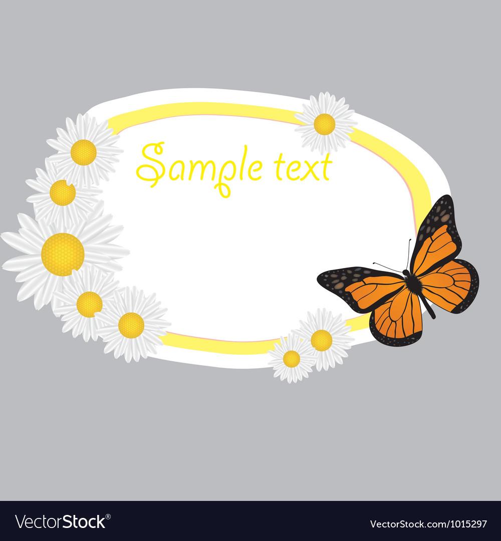 Cute frame design vector image