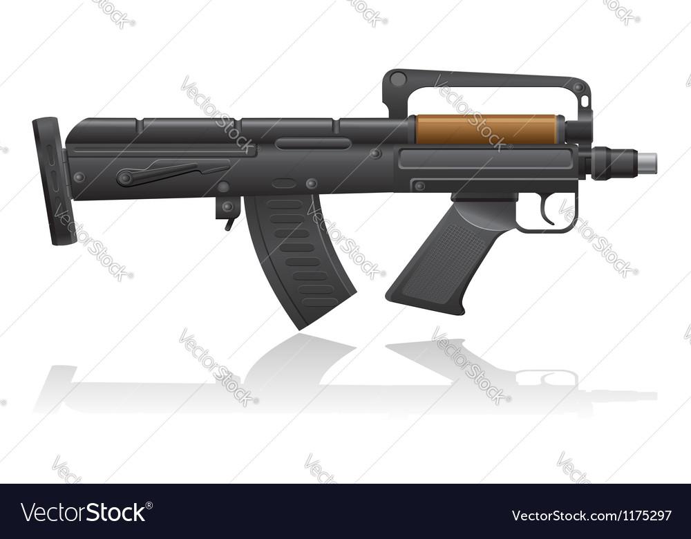 Machine gun with a short barrel