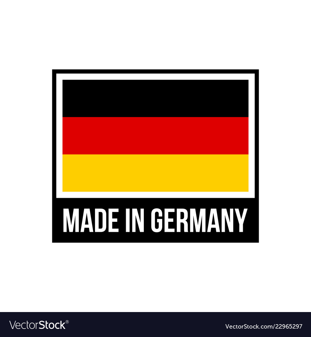 Made in germany frame icon with german flag