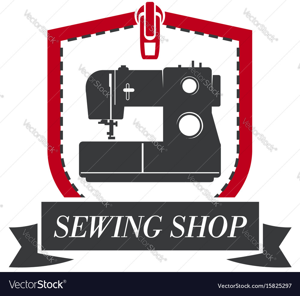 Sewing machine icon for tailor dressmaker vector image