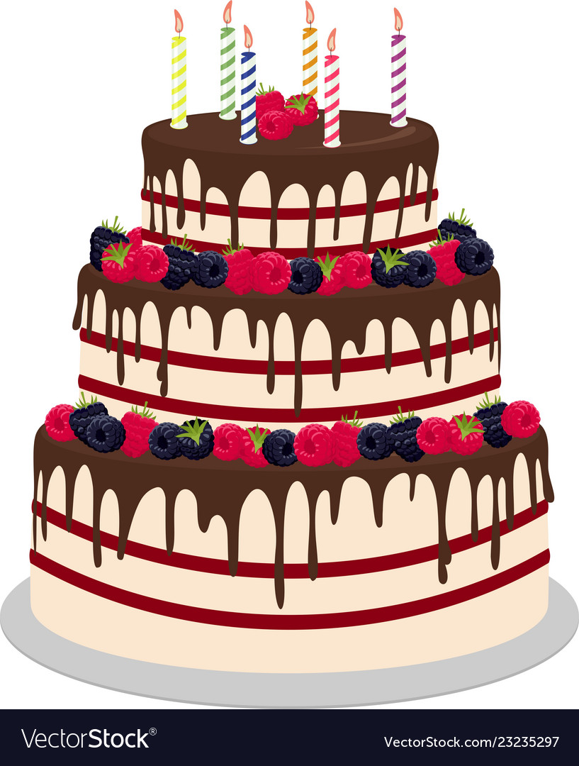 Pleasant Three Tiered Wedding Or Birthday Cake In Chocolate Funny Birthday Cards Online Elaedamsfinfo