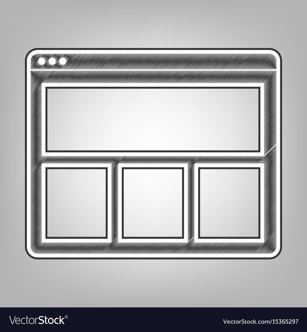 Web window sign pencil sketch imitation