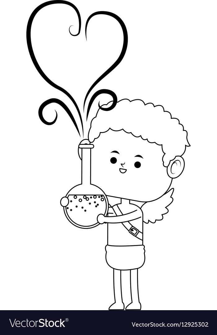 Baby cupid icon vector image