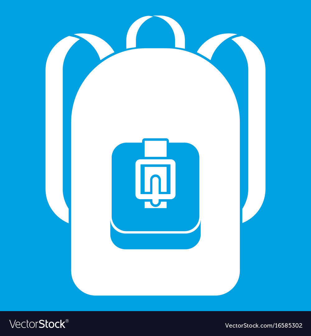 Backpack icon white vector image