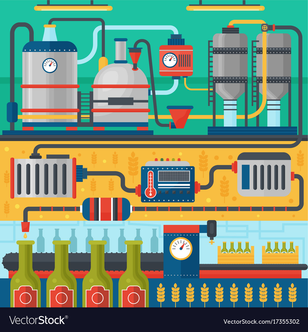 Beer brewery production process factory beer