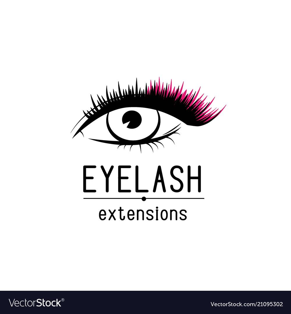 Eyelash extension logo female eye with