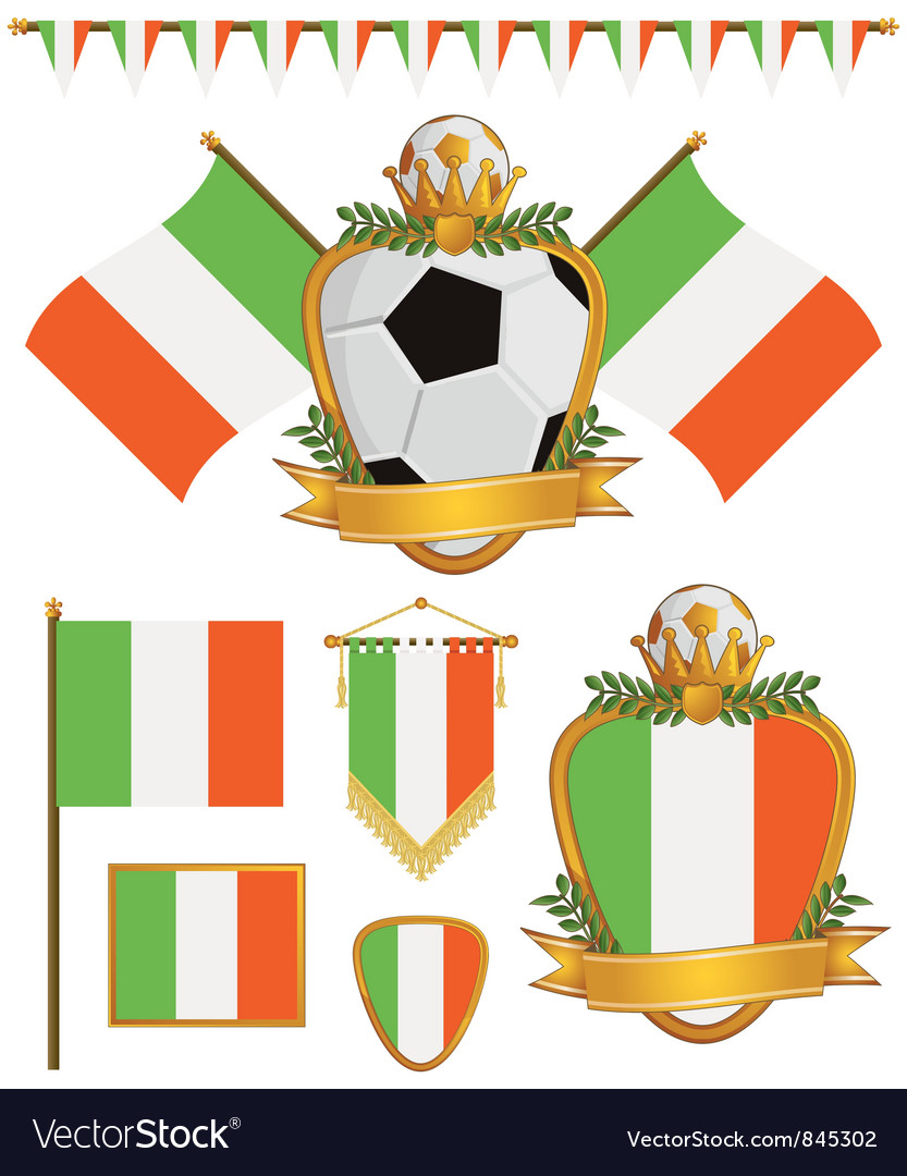 Ireland flags vector image