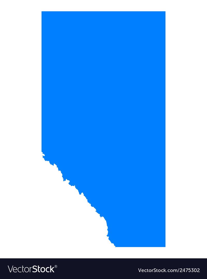 Map of Alberta vector image